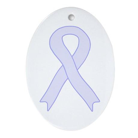 Lavender Ribbon Oval Ornament
