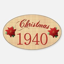 1940 Scrapbooking Christmas Oval Decal