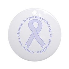Lavender Hope Ornament (Round)