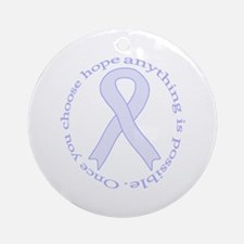 Lavender Hope Ornament (Round)
