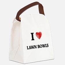I Love Lawn Bowls Canvas Lunch Bag