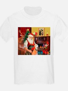 Santa's Greyhound pair T-Shirt