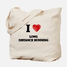 I Love Long Distance Running Tote Bag