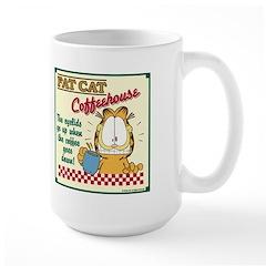 Coffeehouse Garfield Large Mug