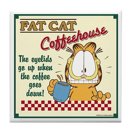 Coffeehouse Garfield Tile Coaster