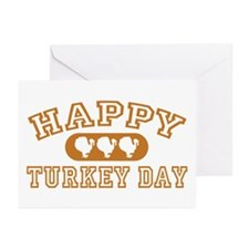 Happy Turkey Day Greeting Cards (Pk of 10)