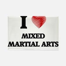 I Love Mixed Martial Arts Magnets
