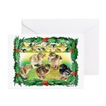 Chicks For Christmas! Greeting Cards (Pk of 20)