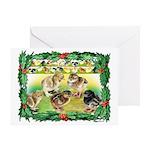Chicks For Christmas! Greeting Card