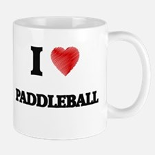 I Love Paddleball Mugs