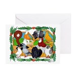 Christmas Pigeons Greeting Cards (Pk of 20)