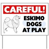 Careful dog signs Yard Signs