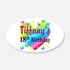 PERSONALIZED 18TH Oval Car Magnet