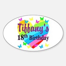 PERSONALIZED 18TH Decal