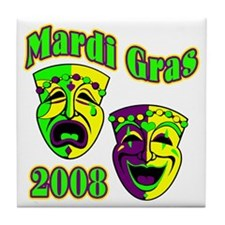 Mardi Gras Theater Mask Tile Coaster