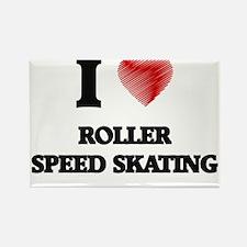 I Love Roller Speed Skating Magnets