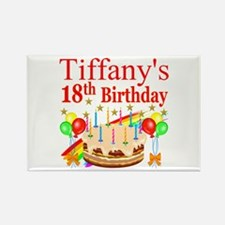 PERSONALIZED 18TH Rectangle Magnet