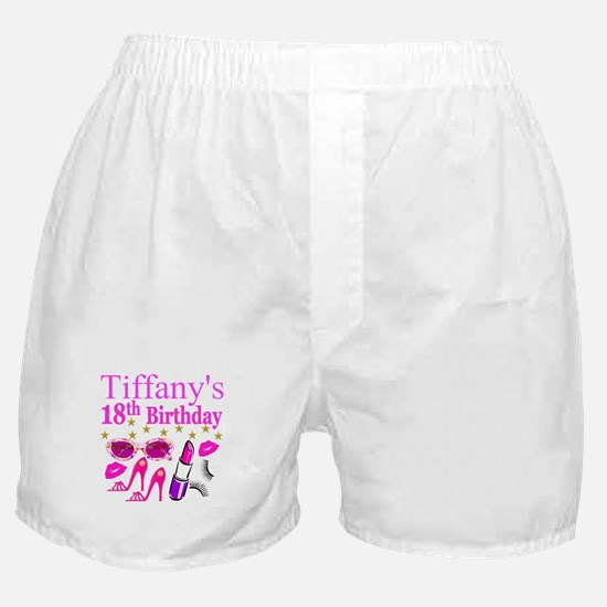 PERSONALIZED 18TH Boxer Shorts