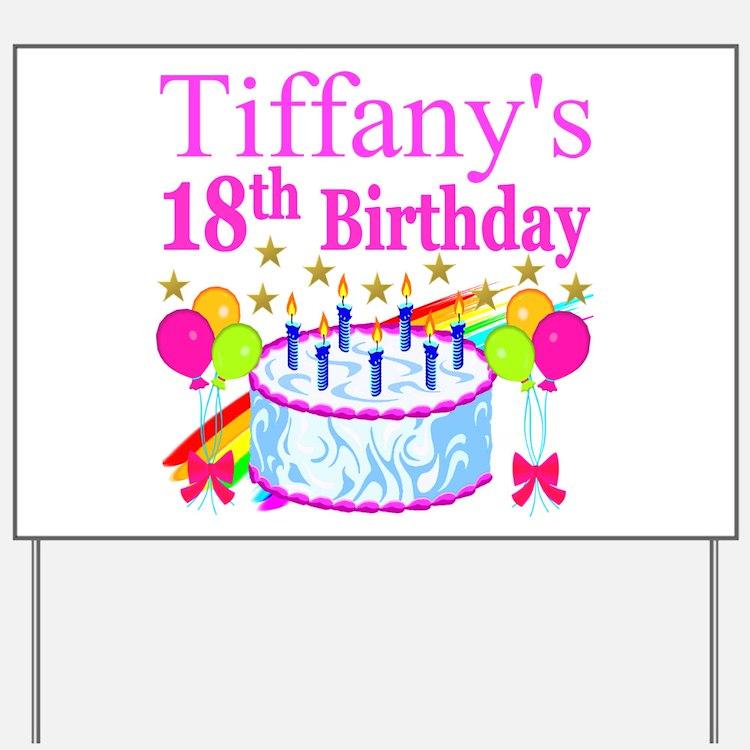 18Th Birthday Girl 18th Birthday Girl Yard Signs