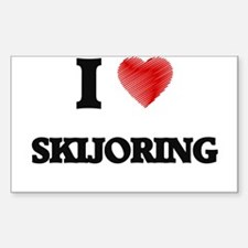 I Love Skijoring Decal