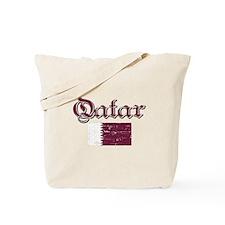 Qatari flag Tote Bag