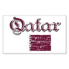 Qatari flag Rectangle Decal