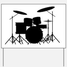 Cute Drummer Yard Sign