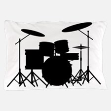Cute Drummer on stage Pillow Case