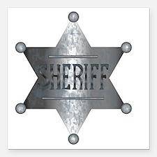 "Cool Bronze star Square Car Magnet 3"" x 3"""