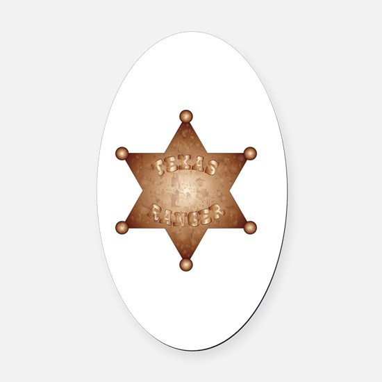Cute Bronze star Oval Car Magnet