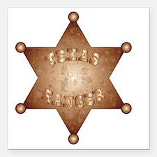 "Funny Bronze star Square Car Magnet 3"" x 3"""