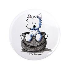 """Cauldron Cutie Westie 3.5"""" Button"""