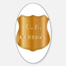 Funny Us marshal Sticker (Oval)