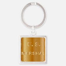 Cute Bronze star Square Keychain
