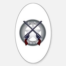 Unique Us marshal Sticker (Oval)