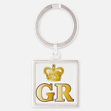 Unique Gold letters Square Keychain