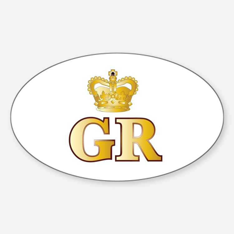 Cute Royal mail Sticker (Oval)