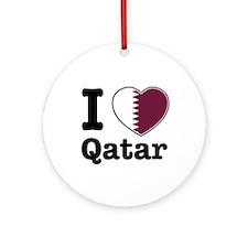 I love Qatar Ornament (Round)