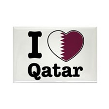 I love Qatar Rectangle Magnet (10 pack)