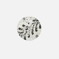 Cute Gray grunge Mini Button