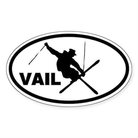 Vail Skier Oval Sticker