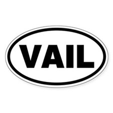 Basic Vail Oval Decal