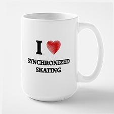 I Love Synchronized Skating Mugs