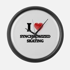I Love Synchronized Skating Large Wall Clock