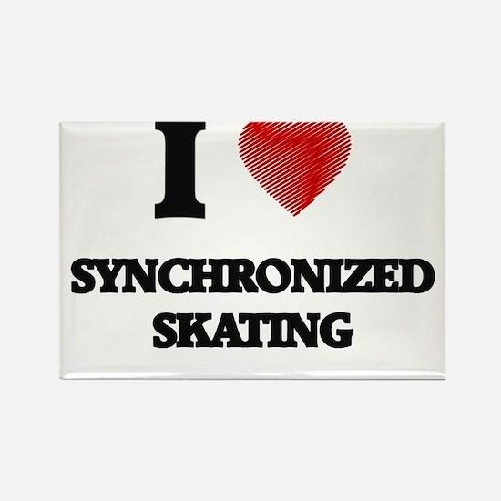 I Love Synchronized Skating Magnets