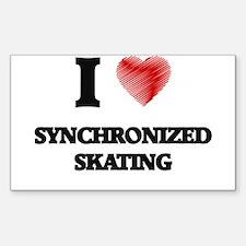 I Love Synchronized Skating Decal