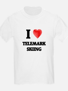 I Love Telemark Skiing T-Shirt