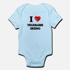 I Love Telemark Skiing Body Suit