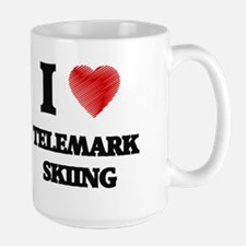 I Love Telemark Skiing Mugs