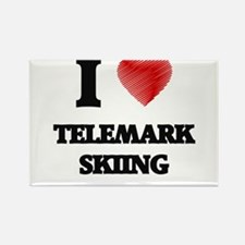 I Love Telemark Skiing Magnets